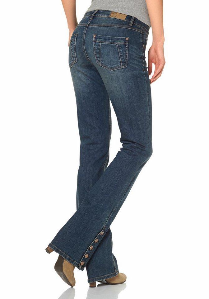 AJC Bootcut-Jeans mit Zierknöpfen in blue-stone