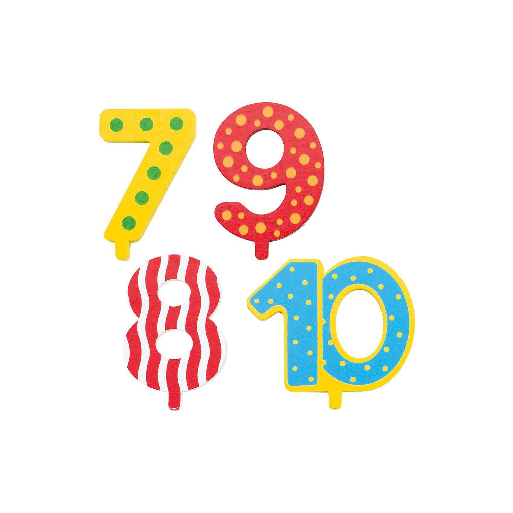 goki Zubehör Geburtstagszug Zahlen 7-10