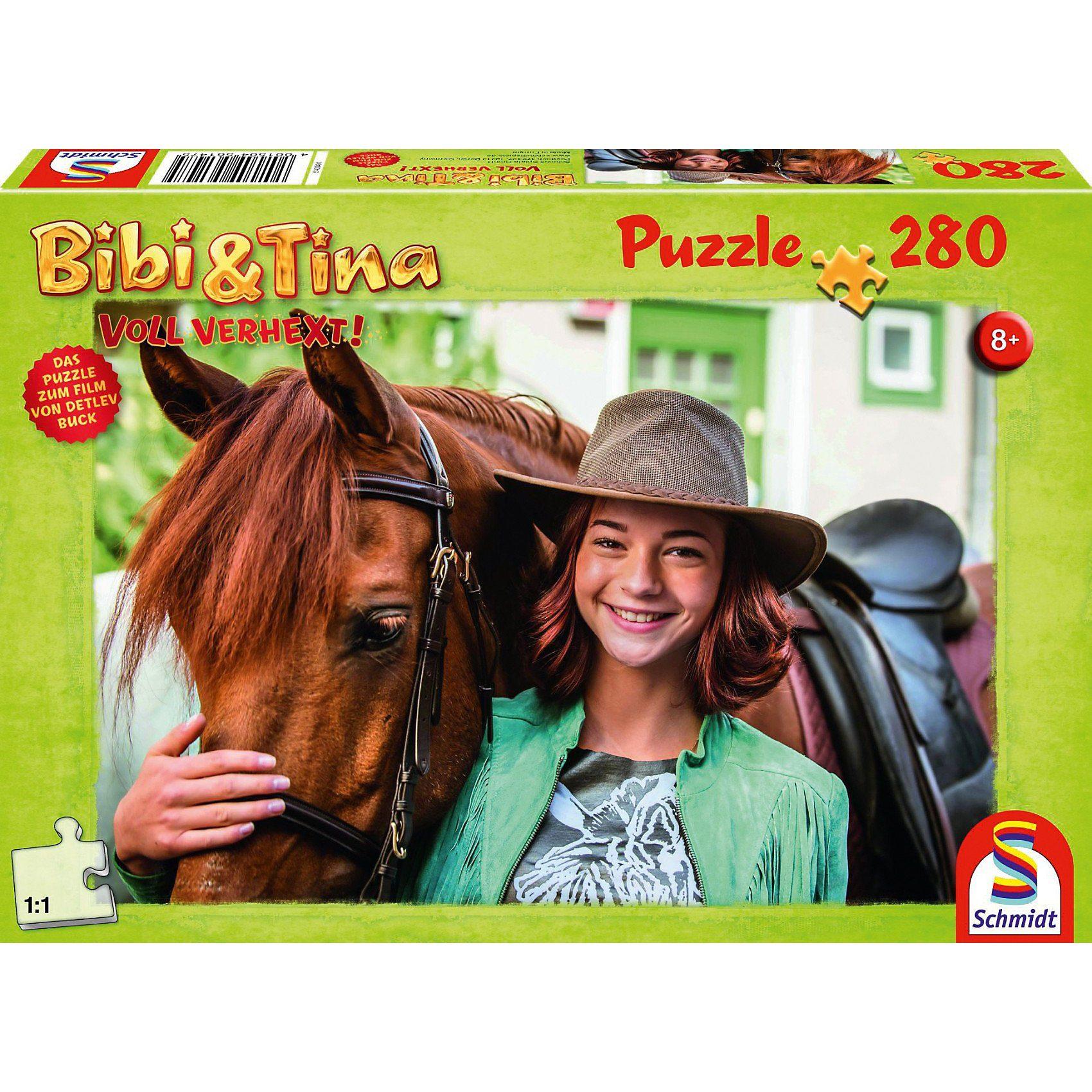 Schmidt Spiele Puzzle zum Film Bibi und Tina 2, Tina und Amadeus, 280 Teile