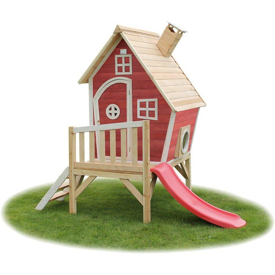 EXIT Spielhaus Fantasia Rotbraun, auf Stelzen inkl. Rutsche, ca. online kaufen