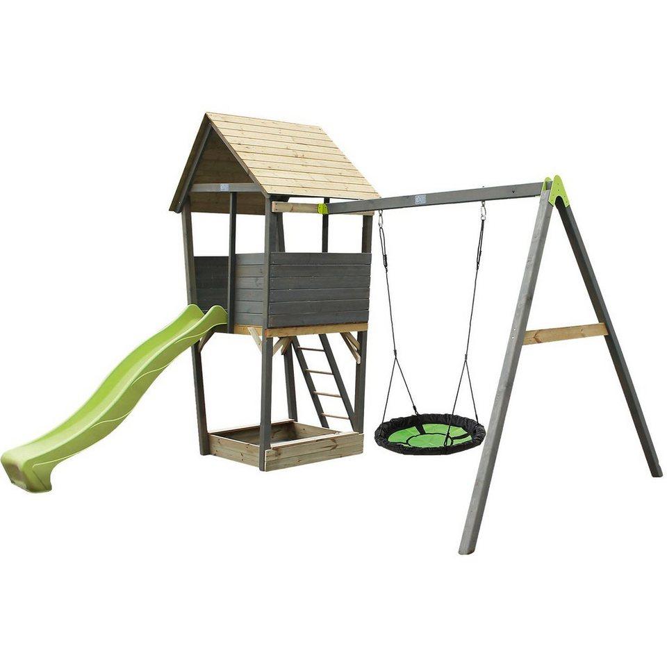 EXIT Spielturm mit Nestschaukel Aksent