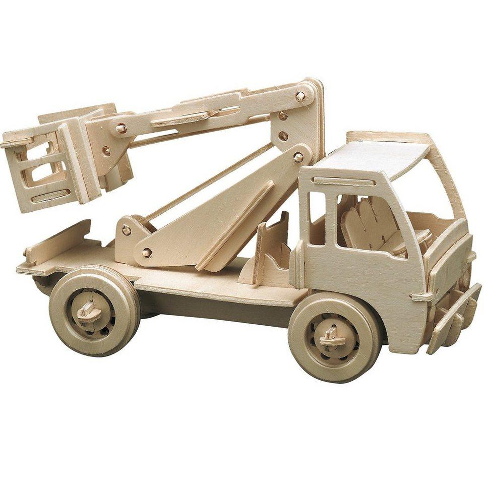 Pebaro Holzbausätze Baufahrzeuge, 3 Sets kaufen
