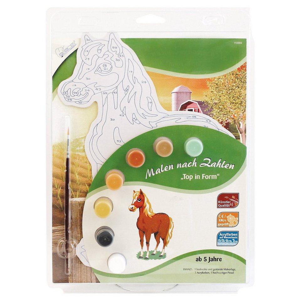 MAMMUT Spiel und Geschenk Malen nach Zahlen Top in Form - Pferd