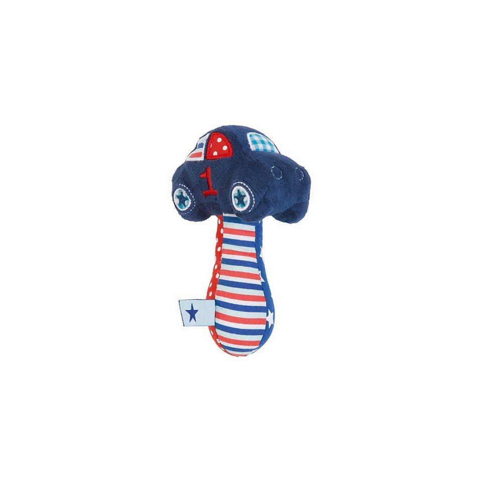 bébé-jou Greifling 1-2-3 mit Rassel, blau