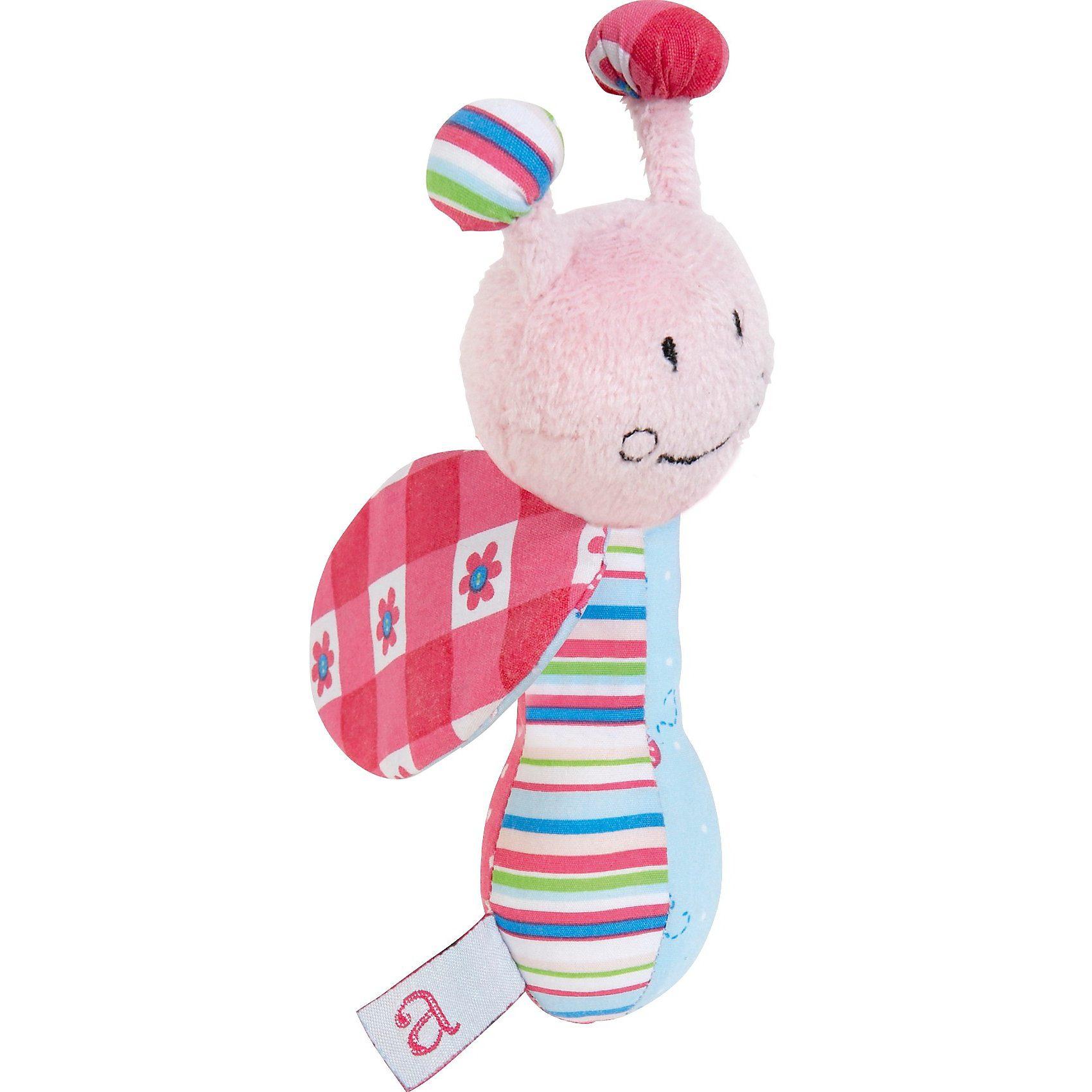 bébé-jou Greifling ABC mit Rassel, rosa