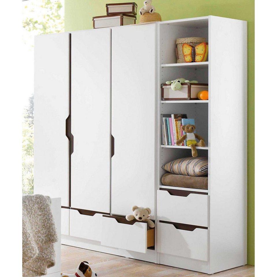 geuther kleiderschrank fresh 3 t rig weiss braun otto. Black Bedroom Furniture Sets. Home Design Ideas