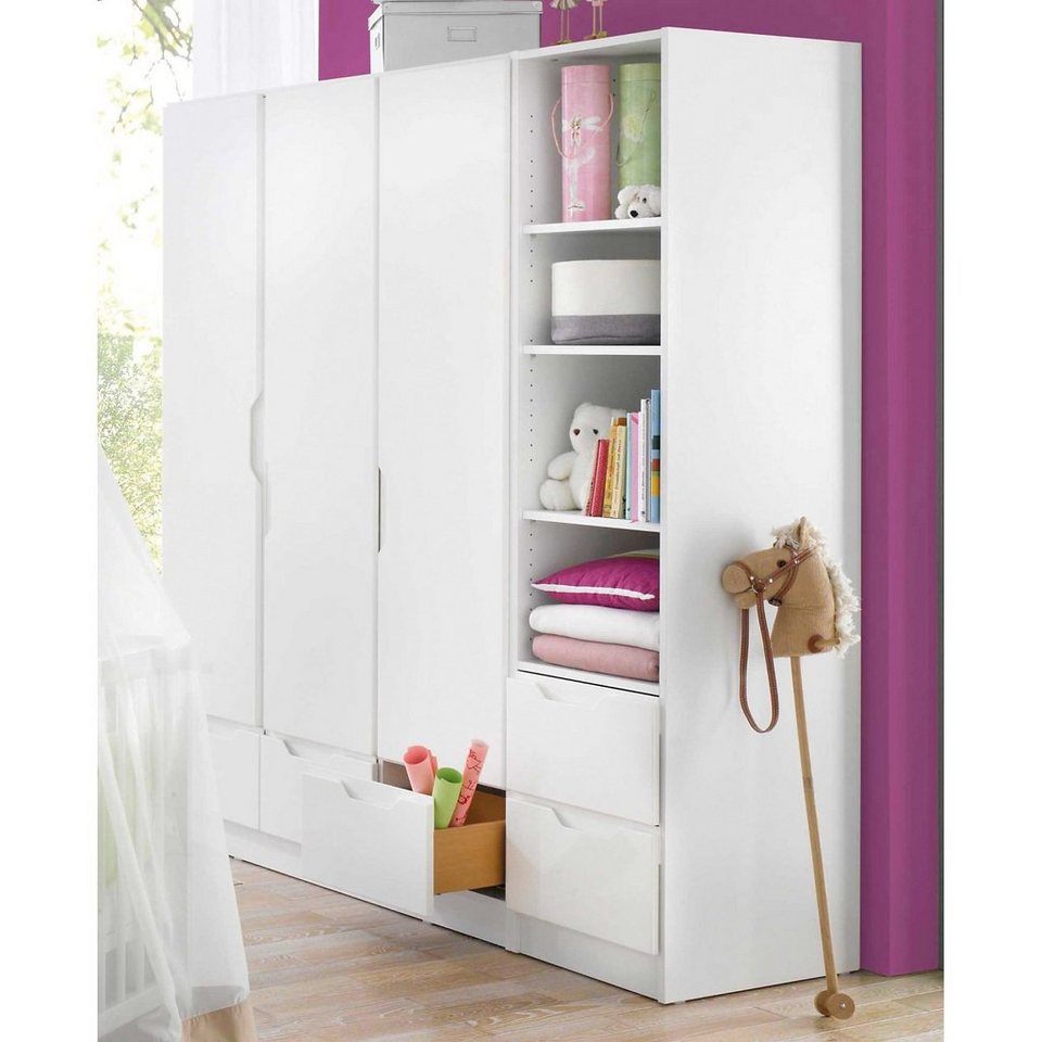 geuther kleiderschrank fresh 3 t rig weiss otto. Black Bedroom Furniture Sets. Home Design Ideas