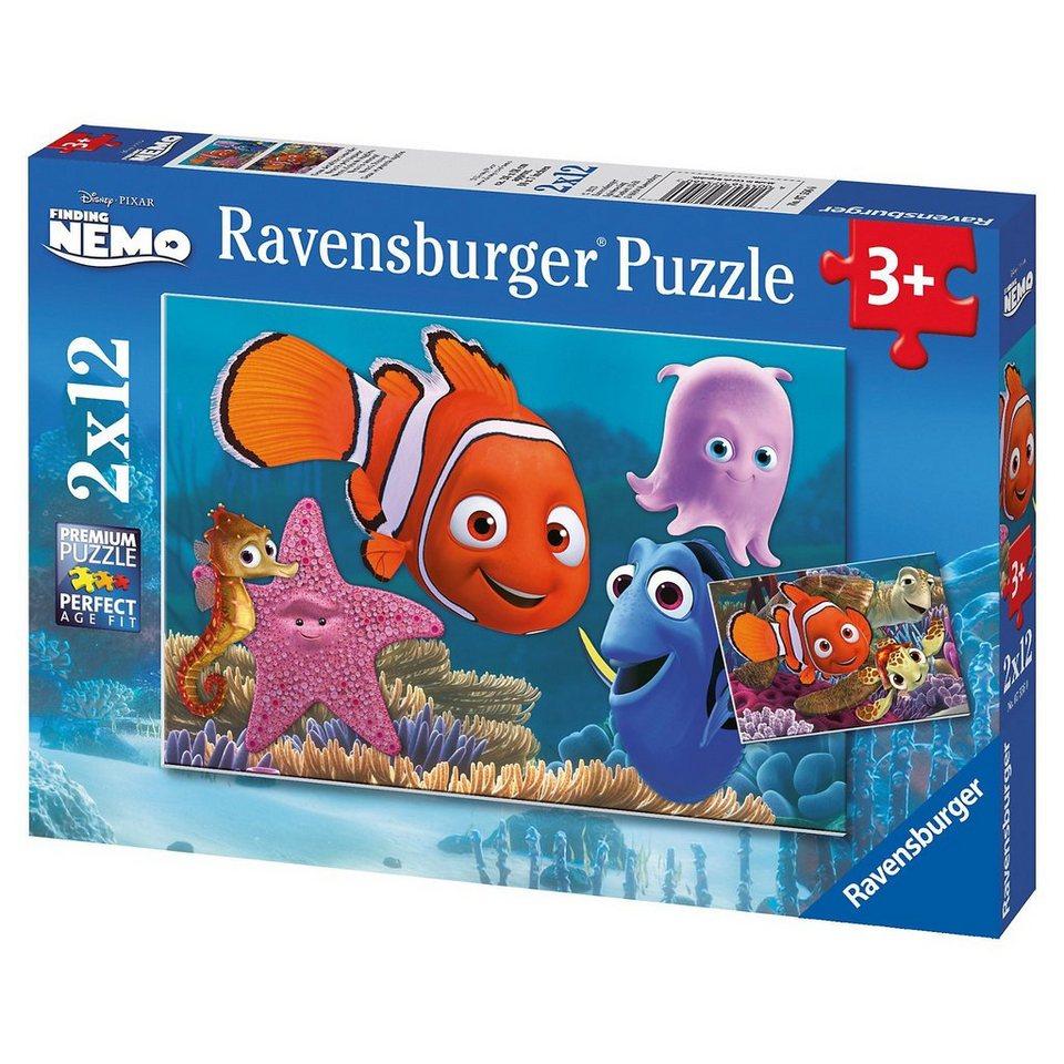 Ravensburger Puzzleset Disney Finding Nemo: Nemo der kleine Ausreißer 2 x