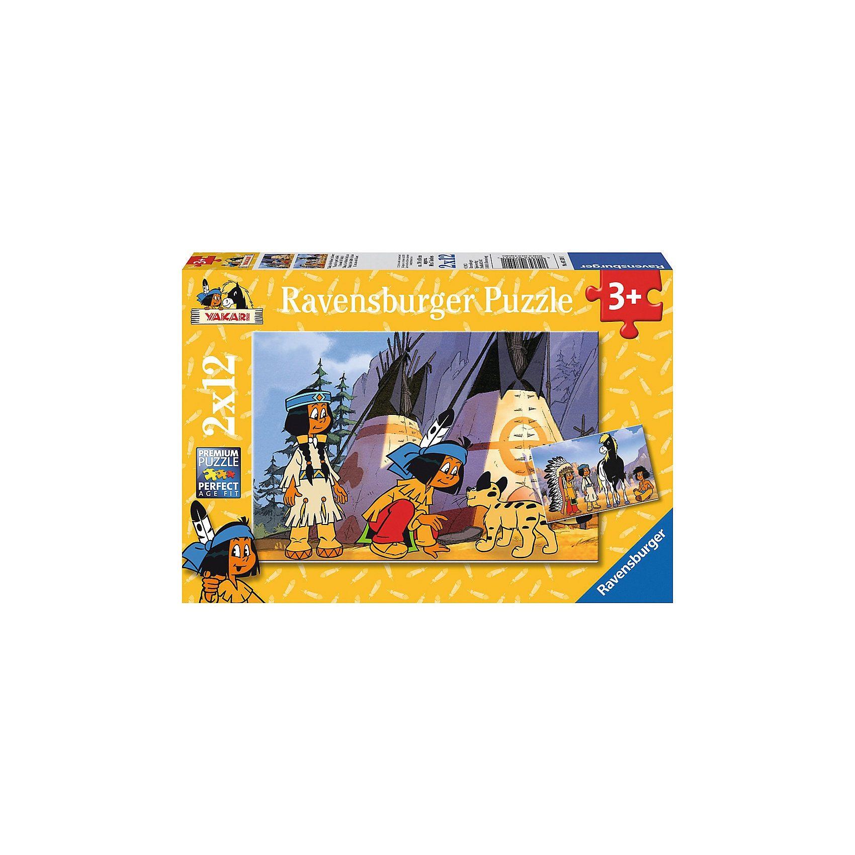 Ravensburger Puzzleset Yakari der kleine Indianer 2 x 12 Teile