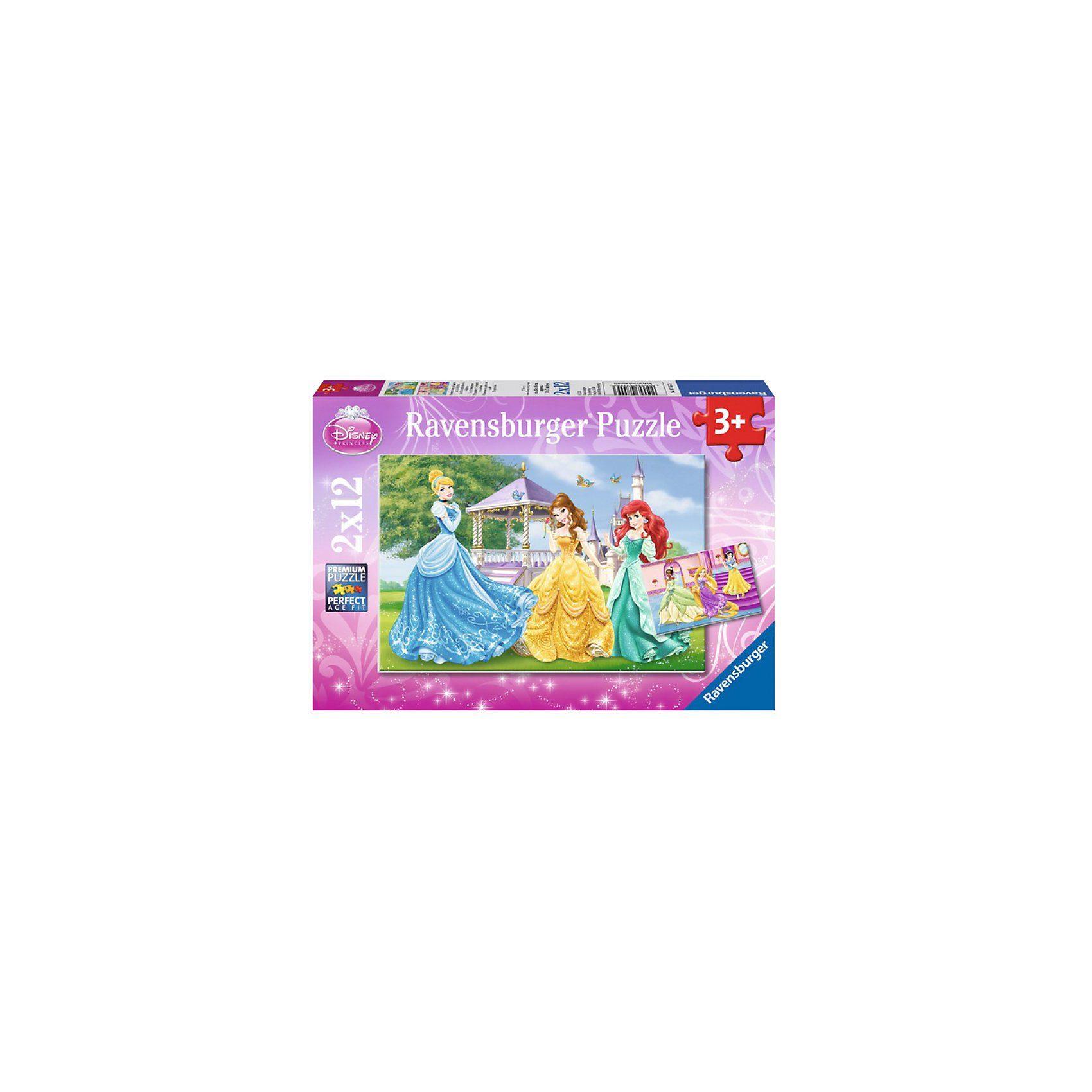 Ravensburger Puzzleset Disney Princess: Prinzessinnen im Schloss und Gart