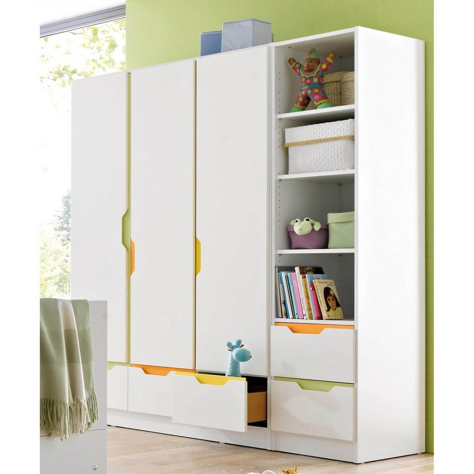 geuther kleiderschrank fresh 3 t rig weiss bunt otto. Black Bedroom Furniture Sets. Home Design Ideas