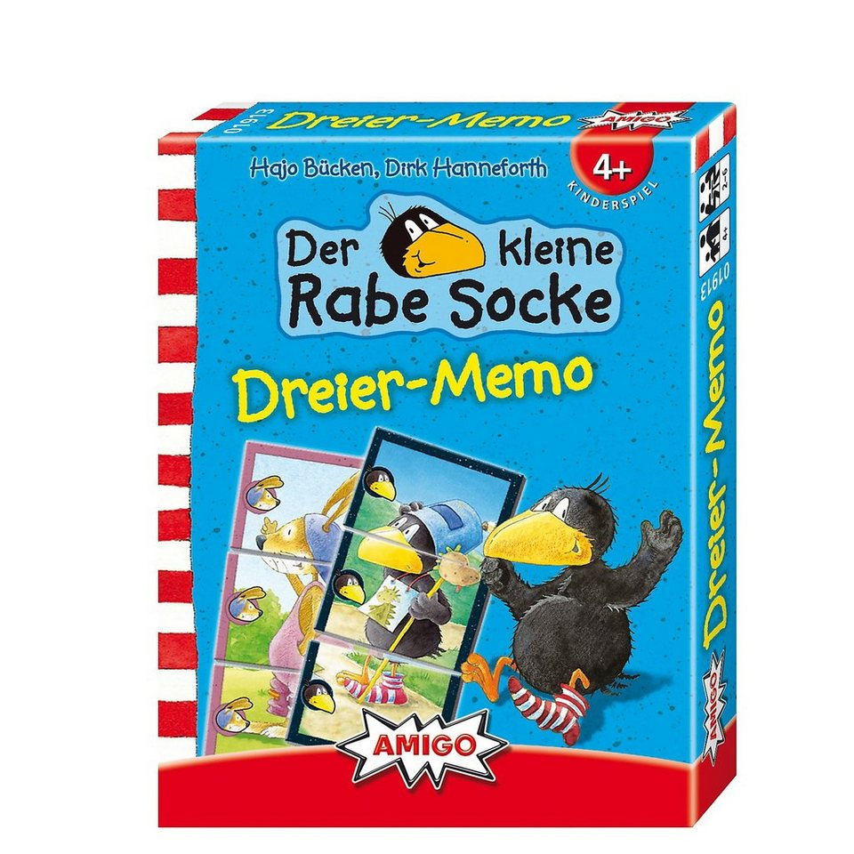 Amigo Rabe Socke - Dreier-Memo