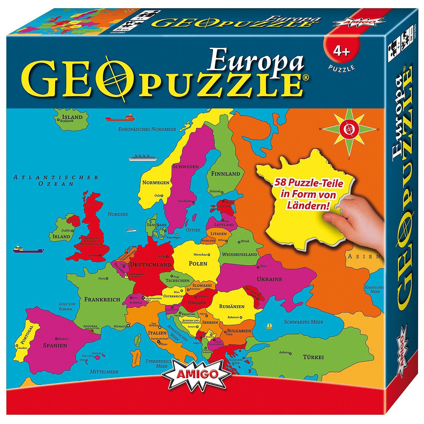 Amigo GeoPuzzle - Europa