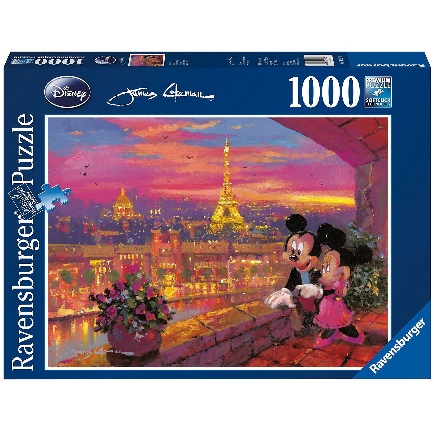 Ravensburger Puzzle Disney Minnie Mouse: In Paris 1000 Teile