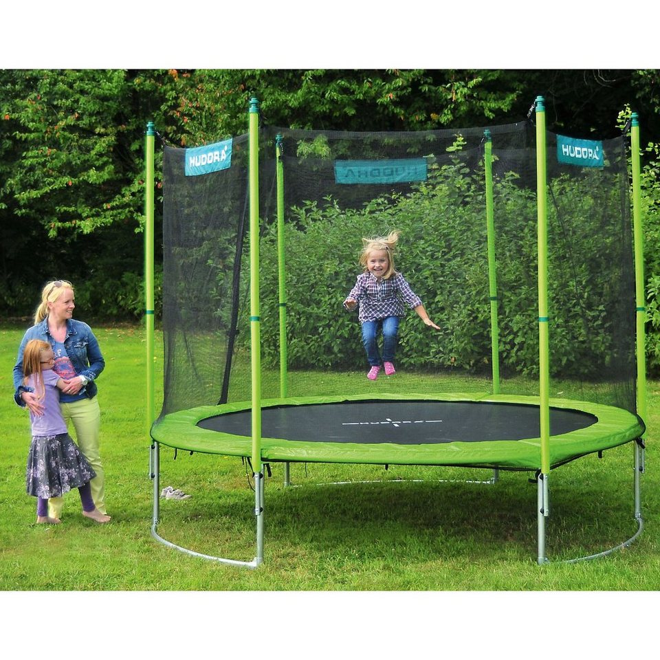 hudora trampolin family 250 cm mit sicherheitsnetz online kaufen otto. Black Bedroom Furniture Sets. Home Design Ideas