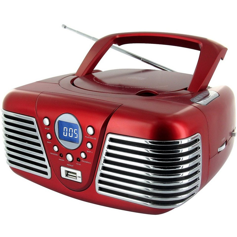 bigben cd player mit radio usb cd mp3 cd34 rot otto. Black Bedroom Furniture Sets. Home Design Ideas