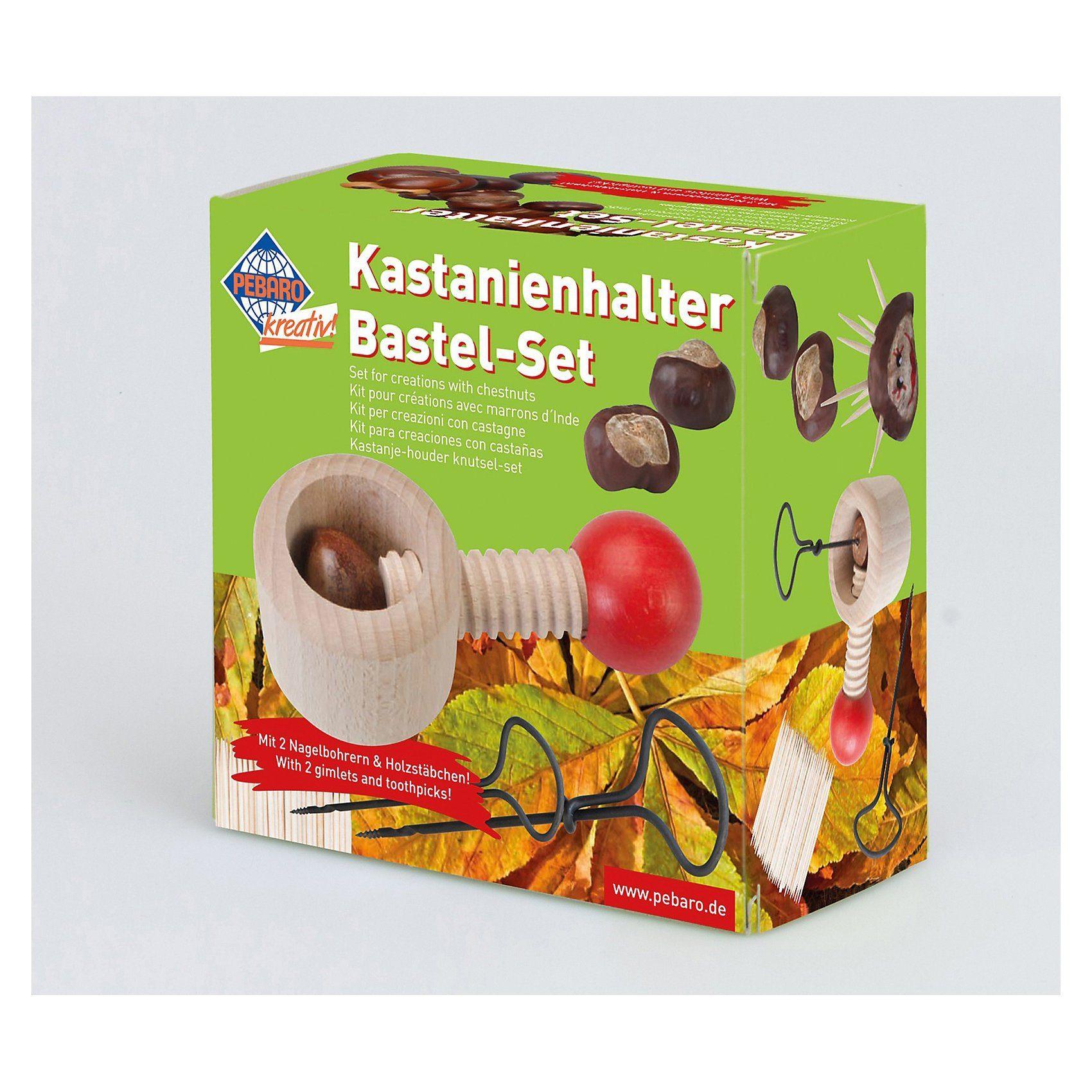 Pebaro Kastanienhalter / Kastanienbohrer Bastel-Set