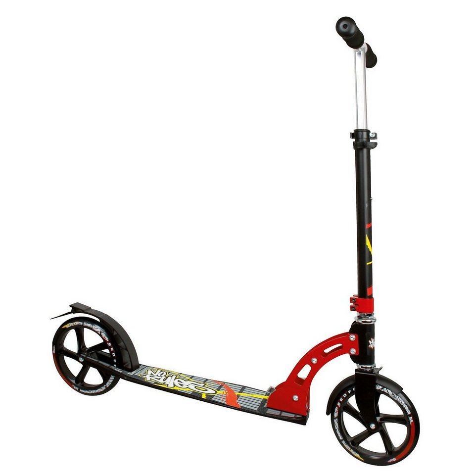 No Rules Scooter 205 mm schwarz/rot/gelb in schwarz/rot