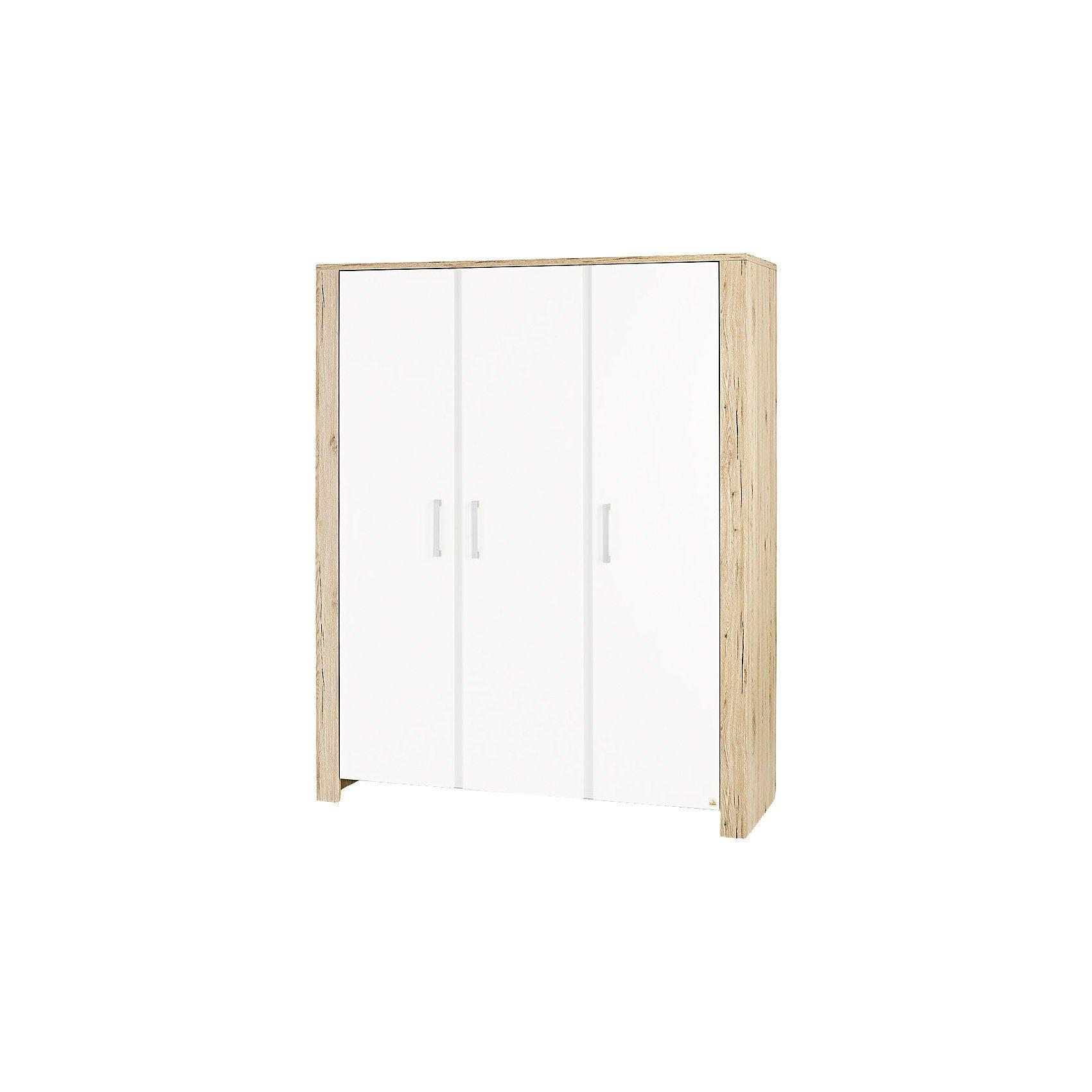 Pinolino® Kleiderschrank CANDEO 3-trg., Eiche Dekor/weiß