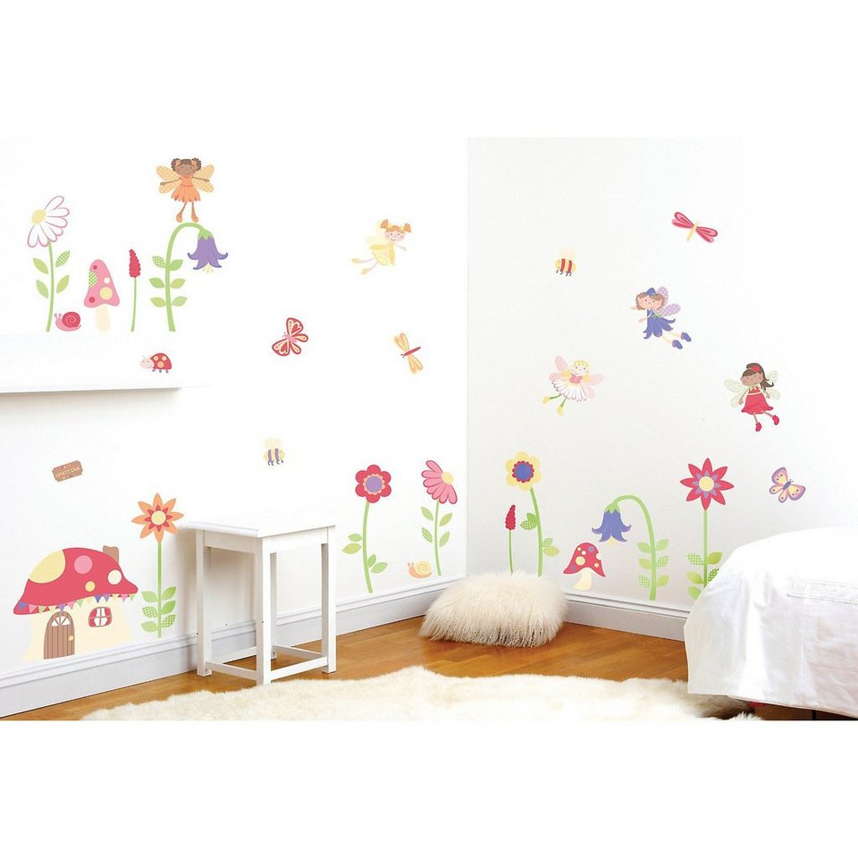 funtosee wandsticker verzauberter garten 36 tlg otto. Black Bedroom Furniture Sets. Home Design Ideas