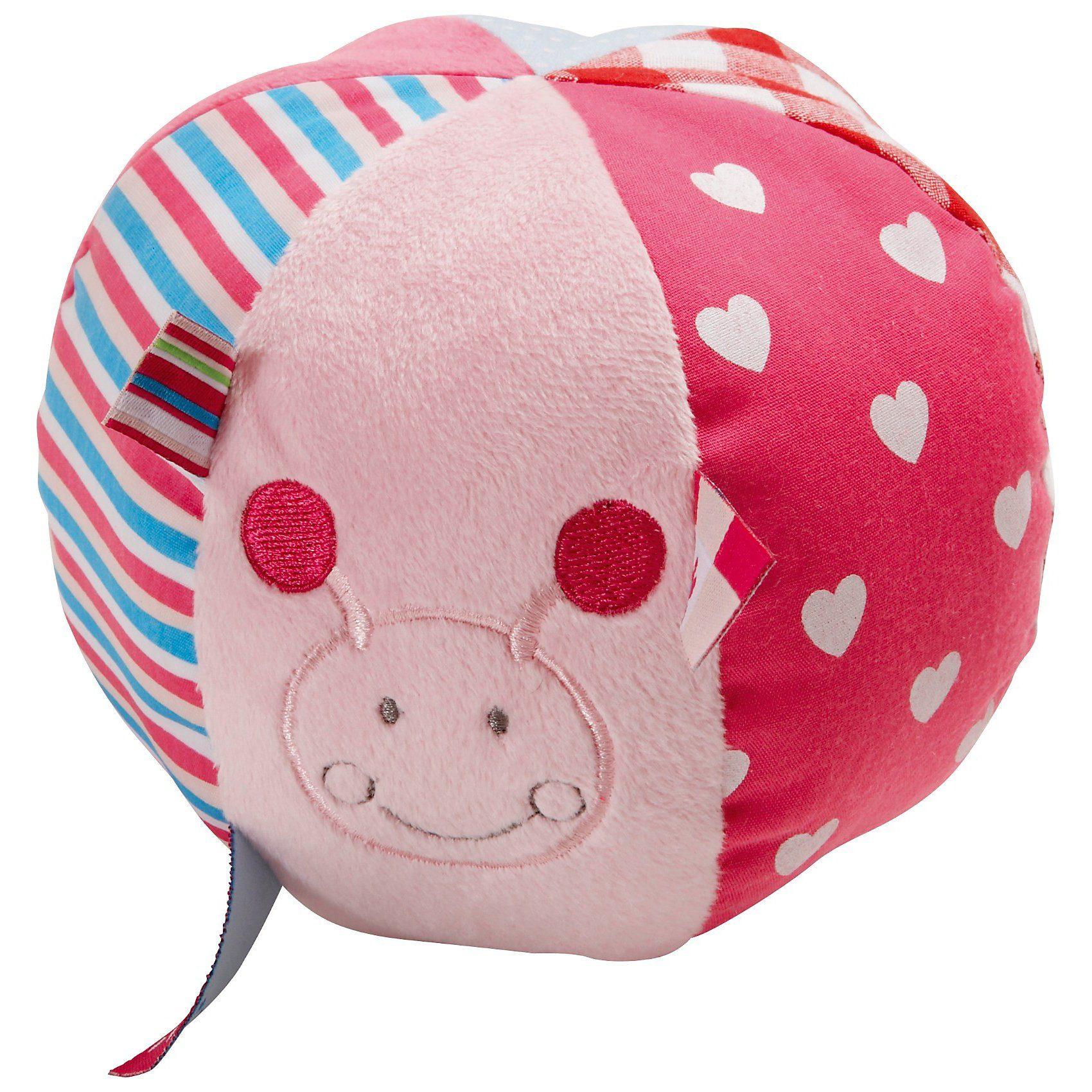 bébé-jou Rasselball ABC, rosa
