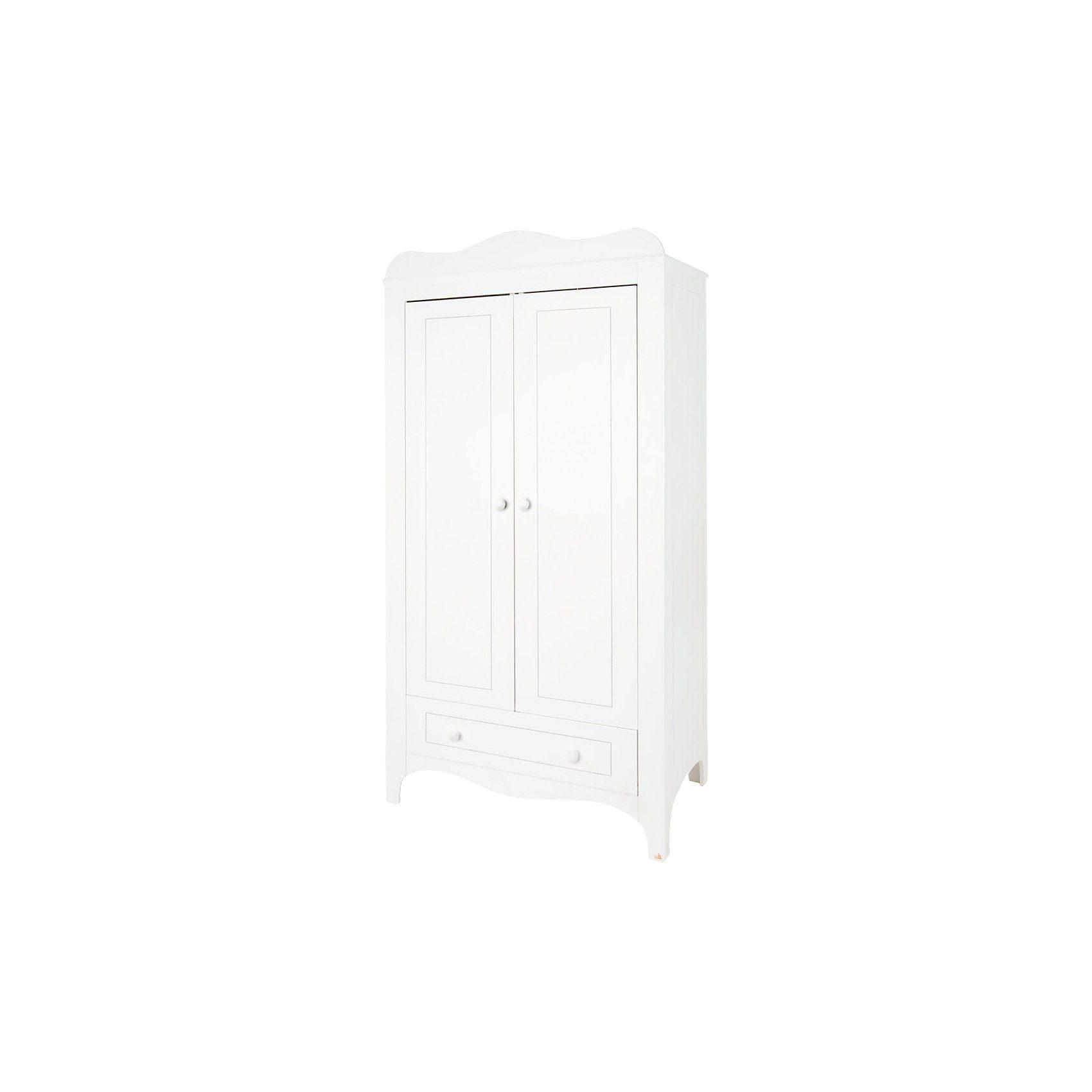 Pinolino Kleiderschrank FLEUR, 2-türig, weiß edelmatt