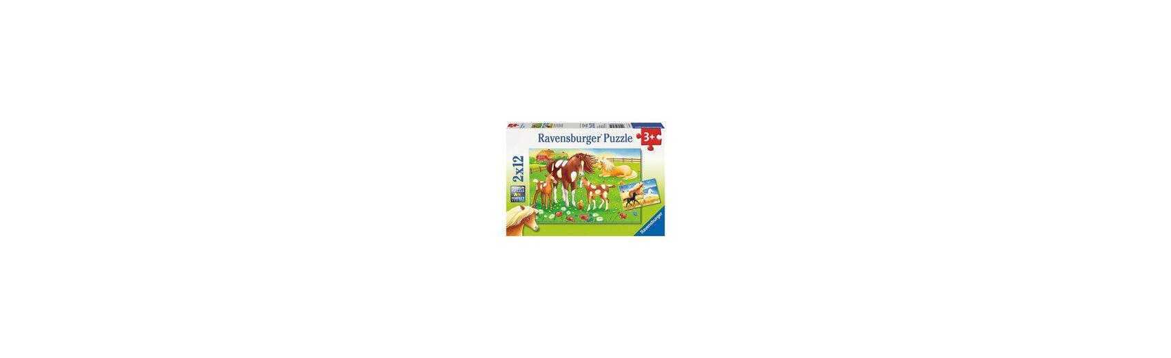 Ravensburger Puzzleset Wehende Mähnen 2 x 12 Teile