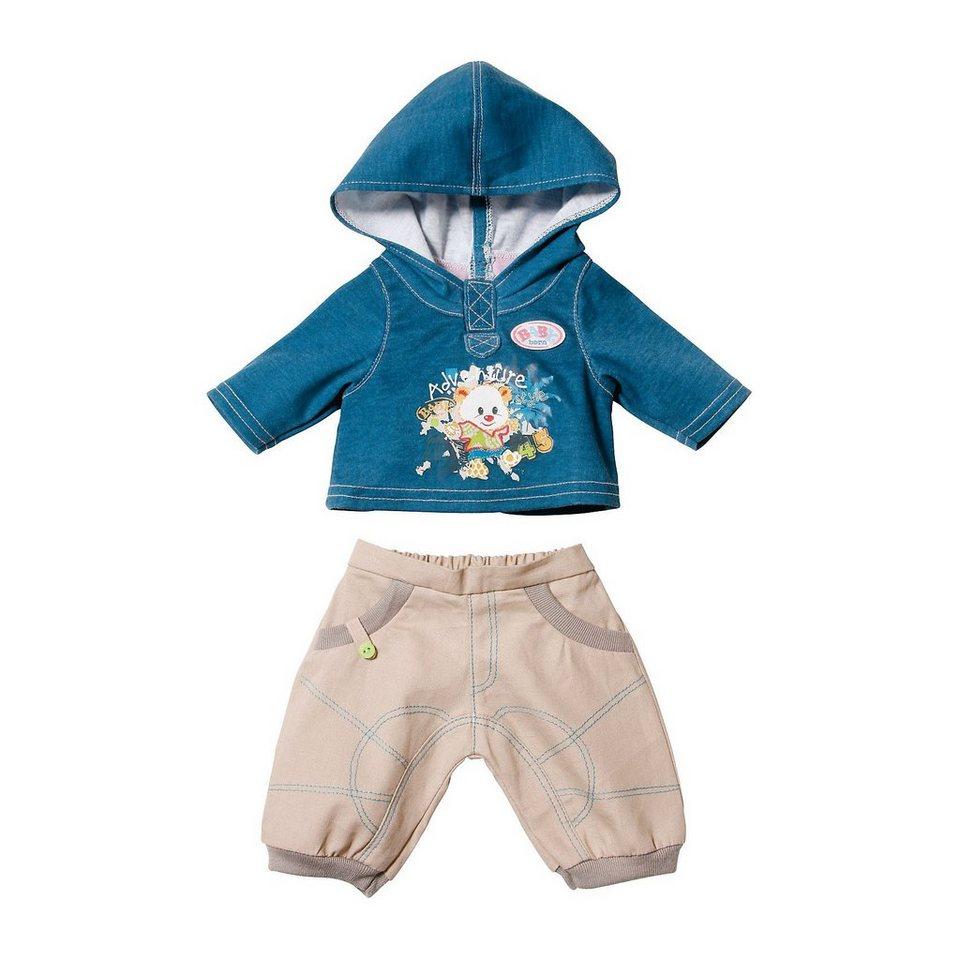 zapf creation baby born puppenkleidung jeans beige hose und blauer hoody online kaufen otto. Black Bedroom Furniture Sets. Home Design Ideas