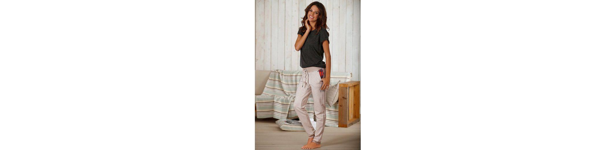 Original Günstig Online H.I.S Schmale Homewearhose mit karierten Tascheninlets Marktfähig Günstiger Preis Kostenloser Versand q4aU0OW