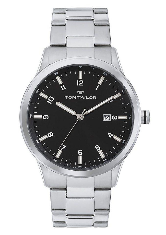 "Tom Tailor, Armbanduhr, ""5414104"" in silberfarben-schwarz"