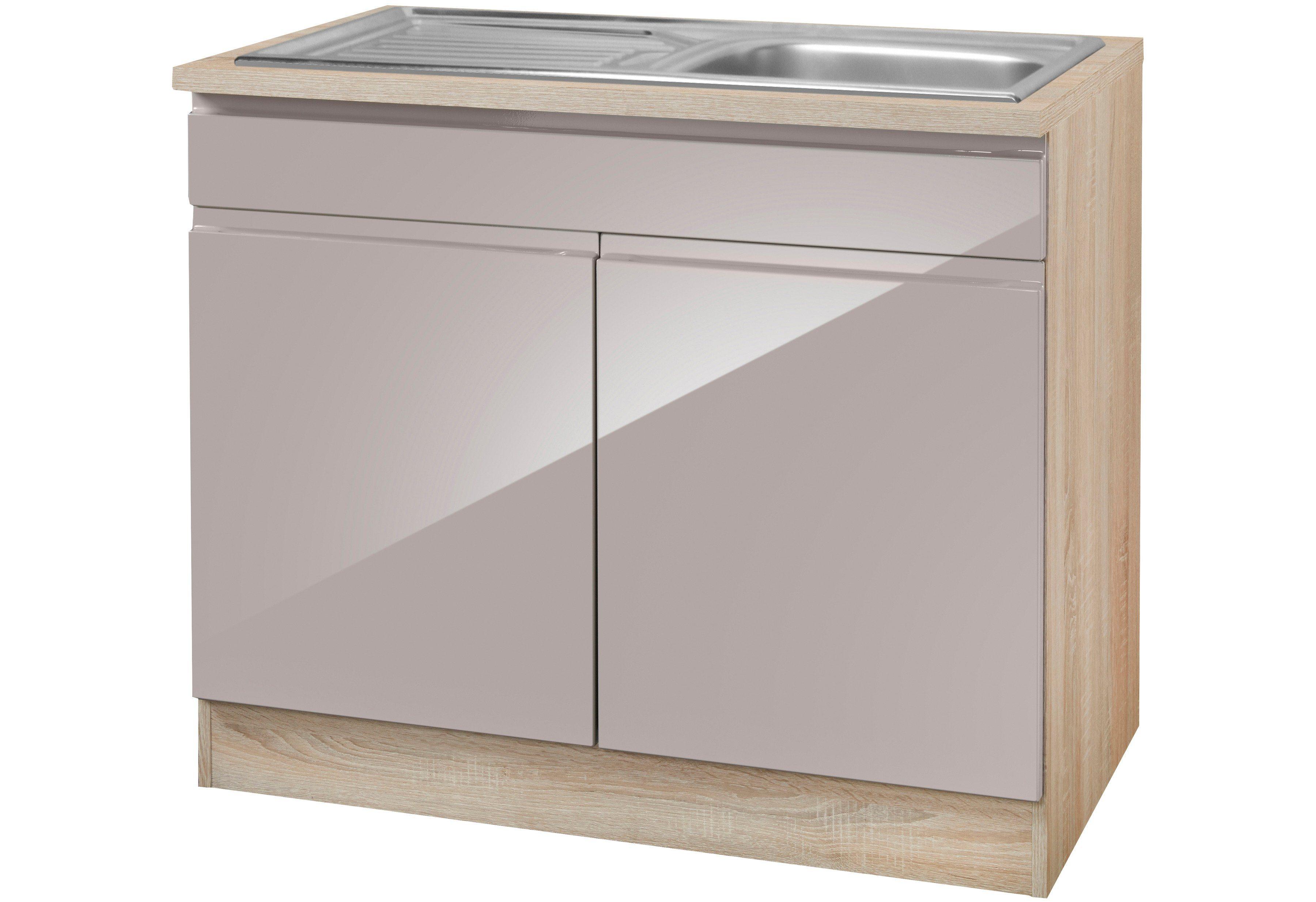 HELD MÖBEL Spülenschrank »Virginia, Breite 100 cm« | Küche und Esszimmer > Küchenschränke > Spülenschränke | Holzwerkstoff | HELD MÖBEL