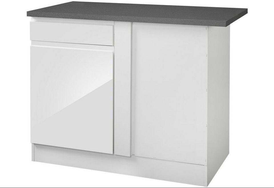 Eckunterschrank »Virginia«, Breite 110 cm in weiß