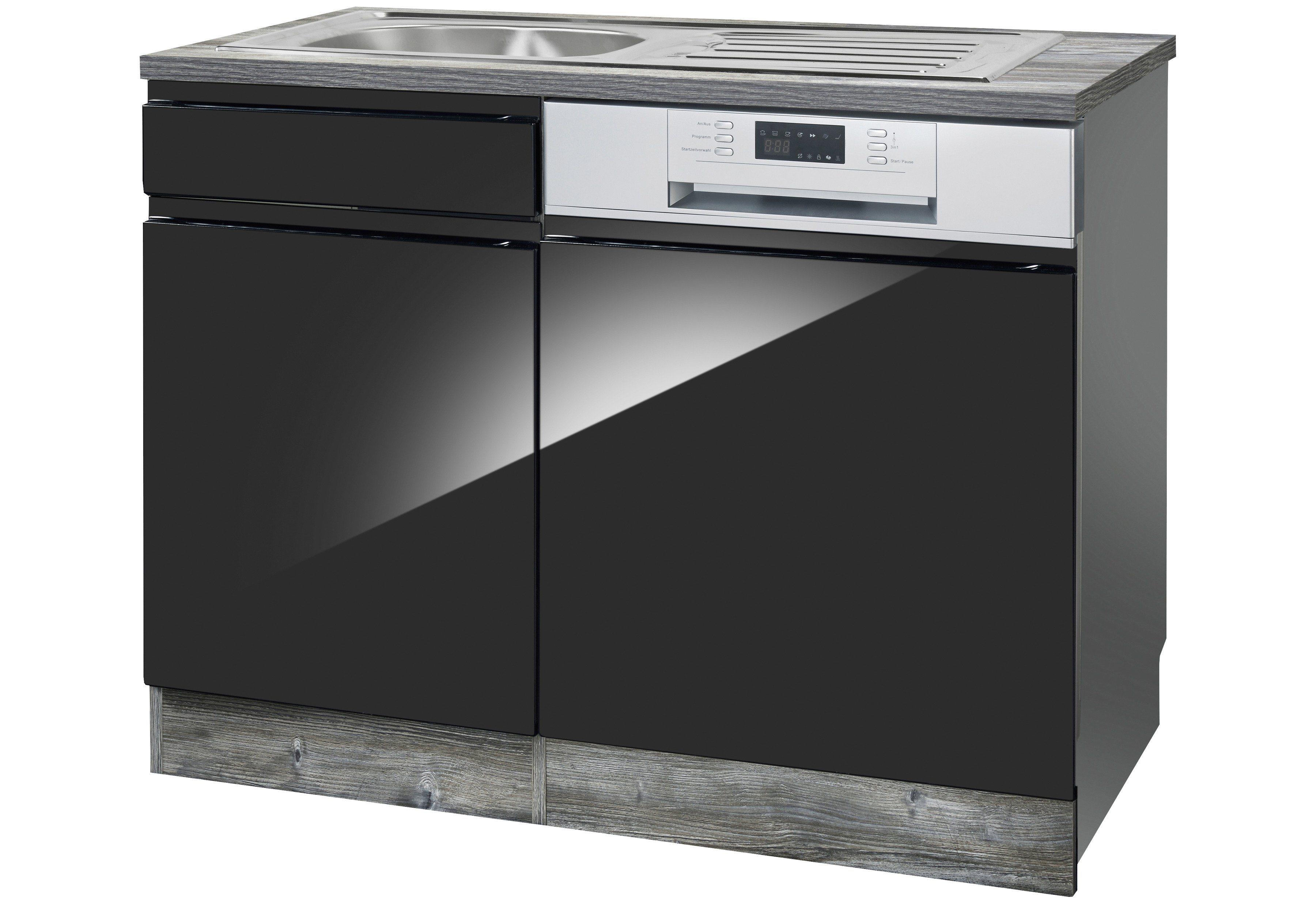 HELD MÖBEL Spülenschrank »Virginia, Breite 110 cm« | Küche und Esszimmer > Küchenschränke > Spülenschränke | Holzwerkstoff | HELD MÖBEL
