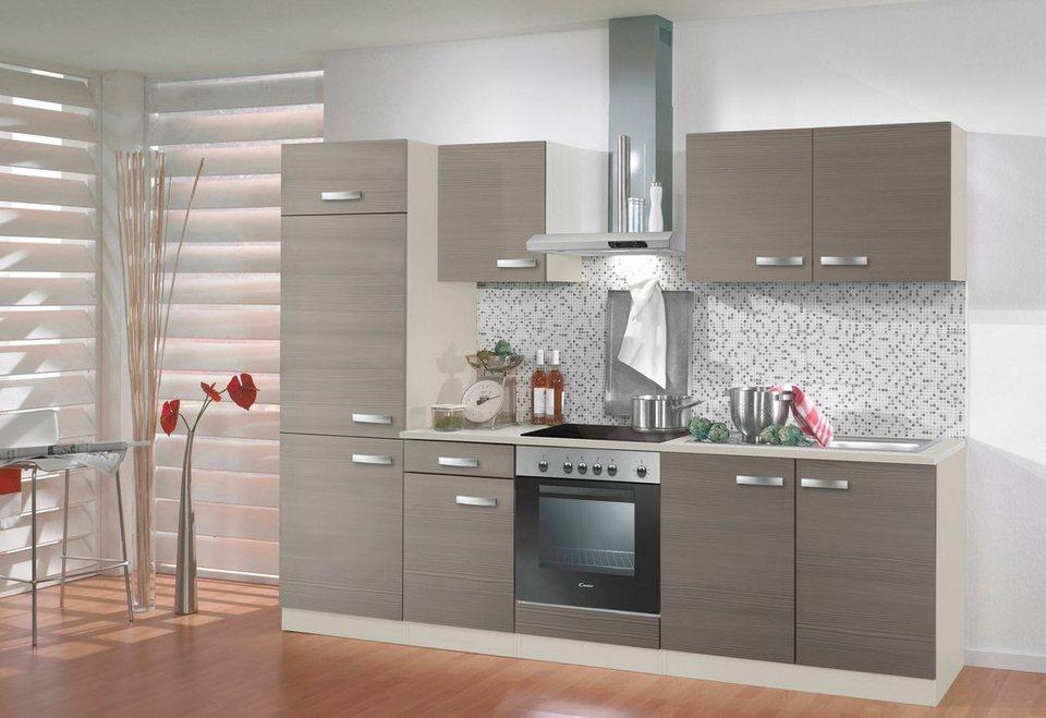 Küchenzeile ohne E-Geräte »Vigo«, Breite 270 cm in nougatfarben/champagnerfarben