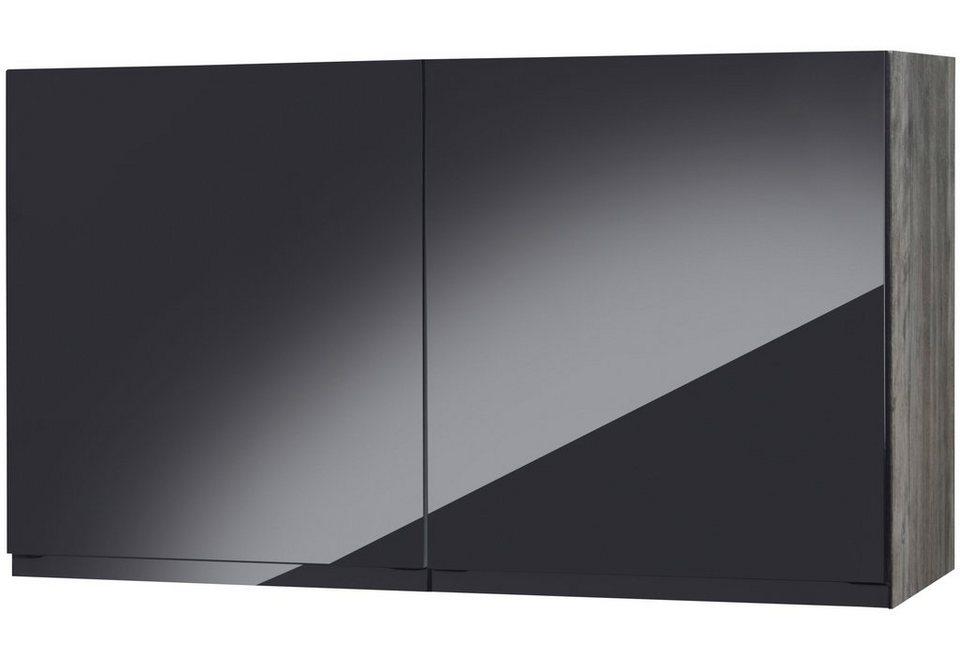 Küchenhängeschrank »Virginia«, Breite 100 cm in schwarz/eichefarben vintage