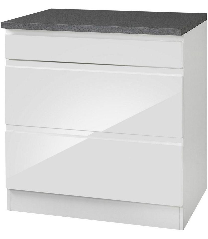 Kochfeldumbauschrank »Virginia«, Breite 80 cm in weiß/anthrazit