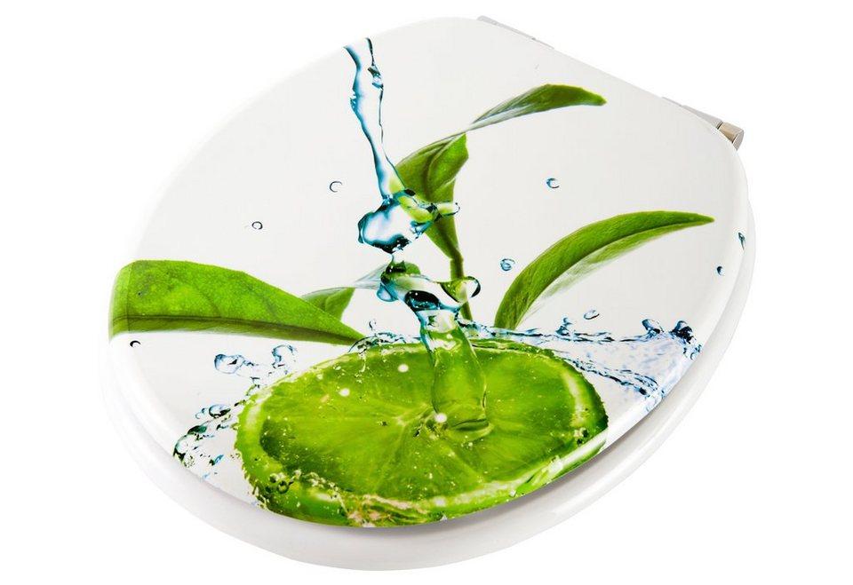 WC-Sitz »Limone«, Mit Absenkautomatik in weiß-grün