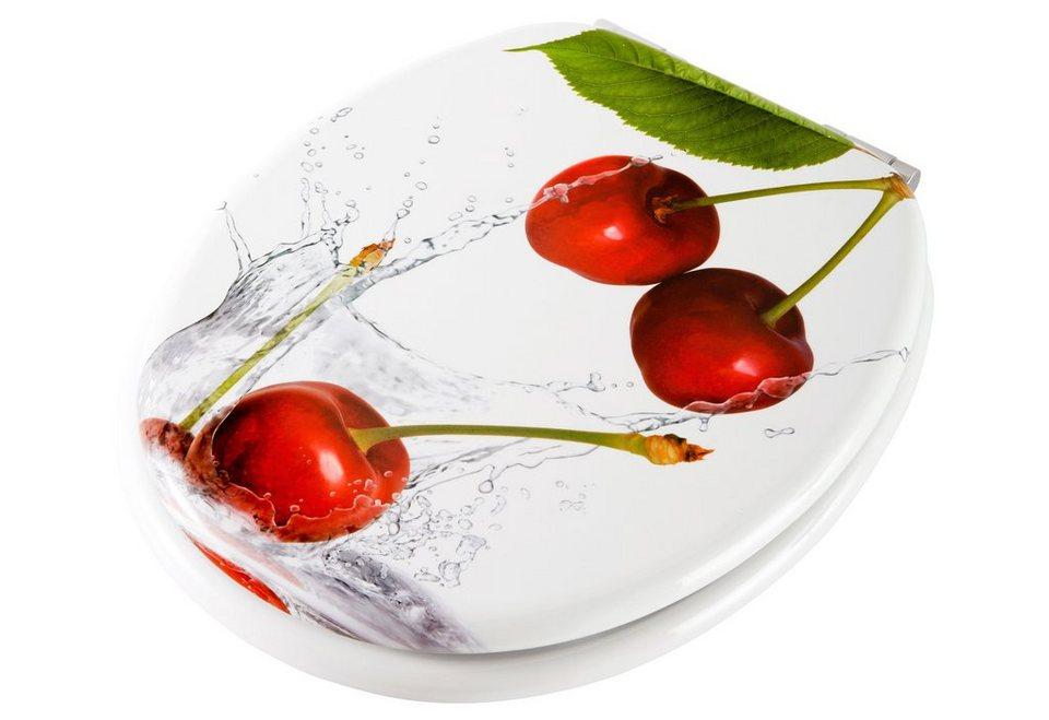 WC-Sitz »Kirsche«, Mit Absenkautomatik in rot/weiß