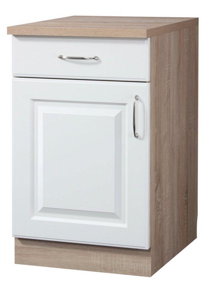 Küchenunterschrank »Tilda«, B/T/H: 50/60/85 cm in weiß/eichefarben