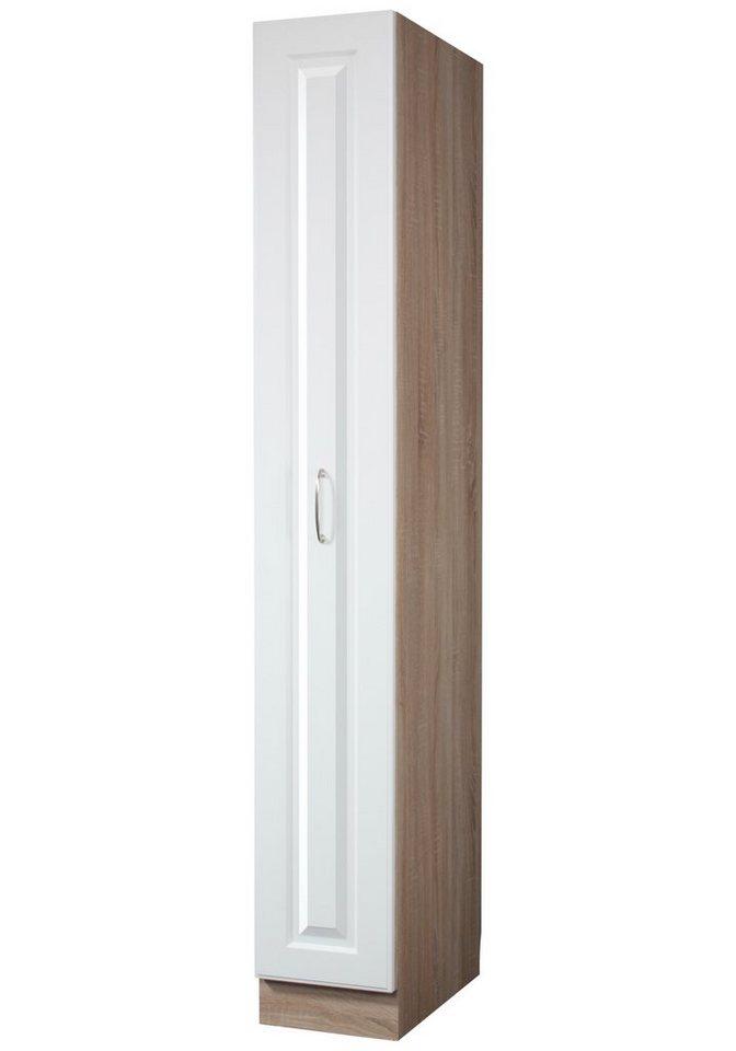 Apothekerschrank»Tilda«, B/T/H: 30/60/200 cm in eichefarben/weiß
