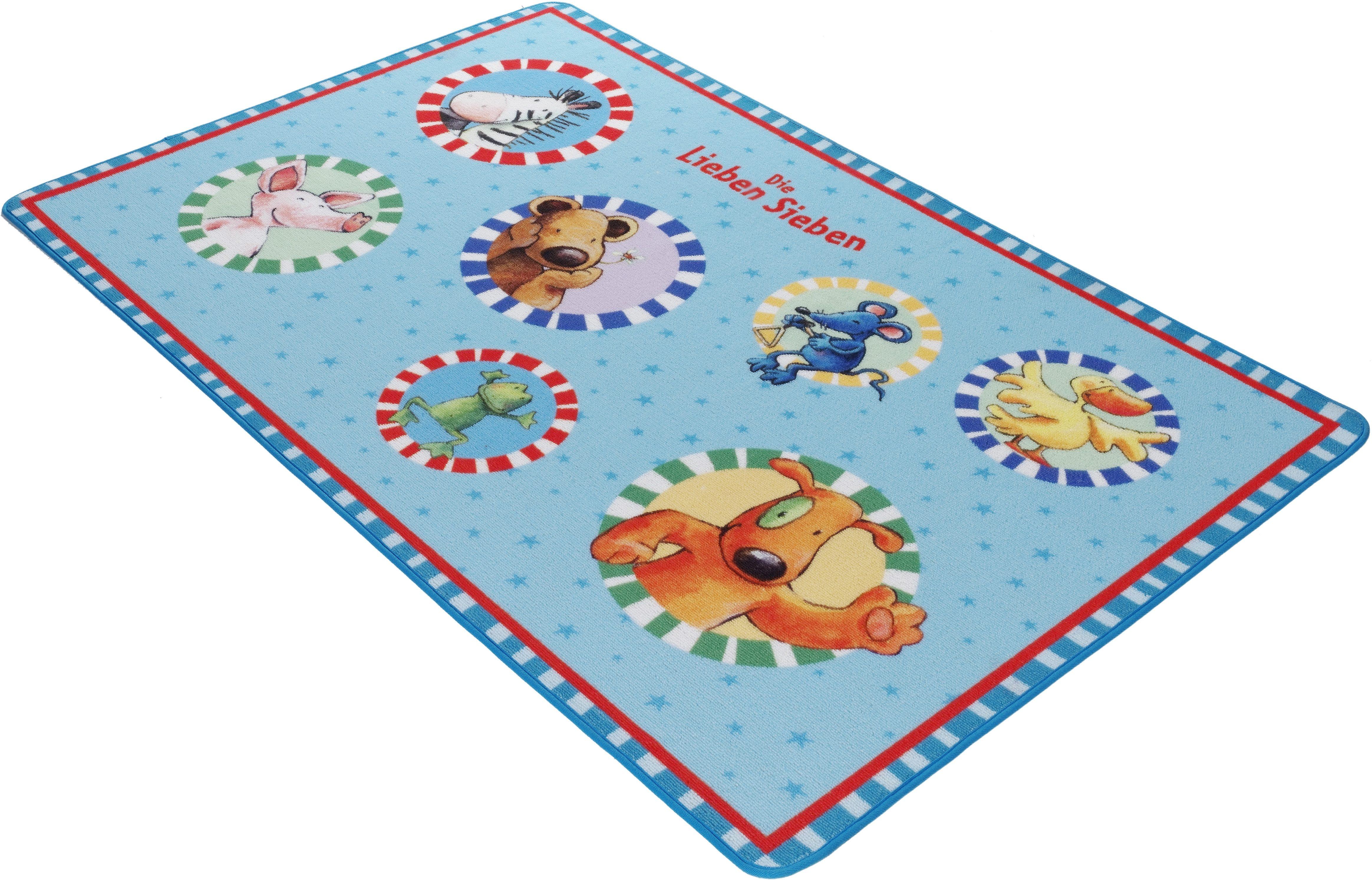 Kinderteppich »LS-202«, Die Lieben Sieben, rechteckig, Höhe 2 mm