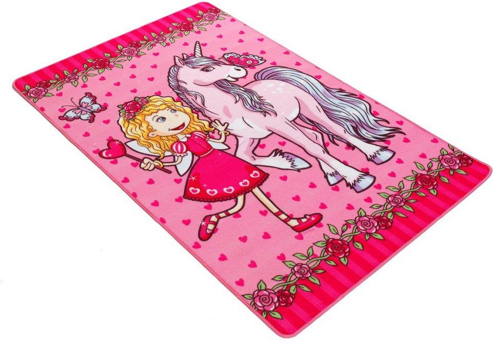 Fußmatte, Böing Carpet, »Lovely Kids LK-9«, rutschhemmend beschichtet in rosa