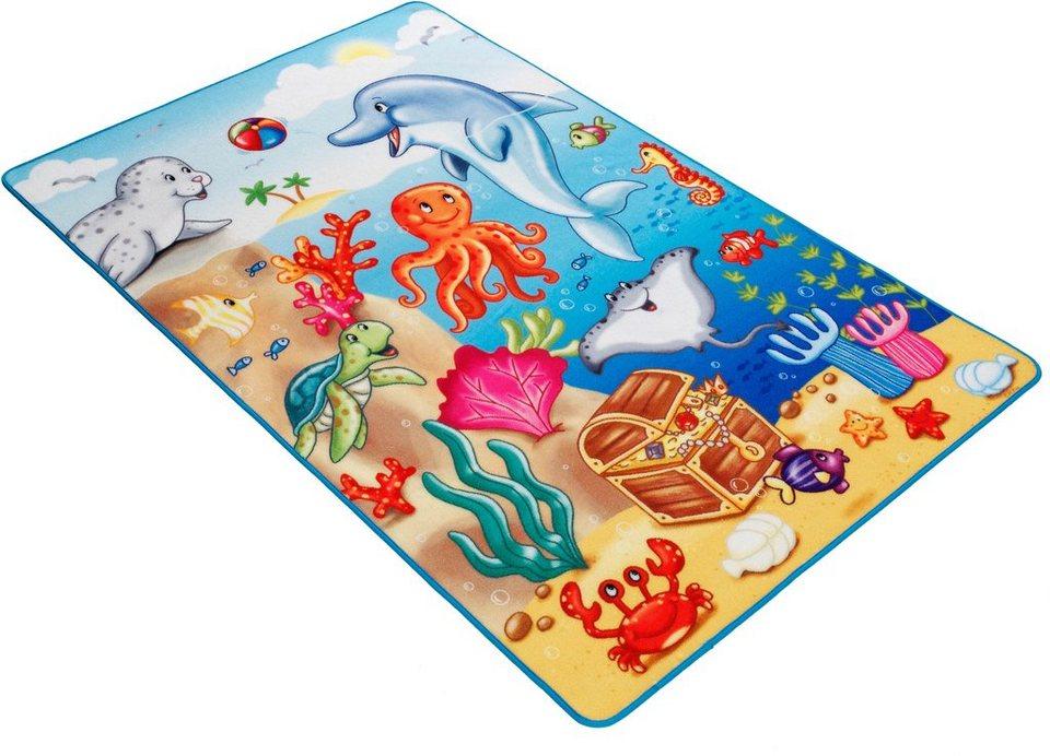 Fußmatte, Böing Carpet, »Lovely Kids LK-7«, rutschhemmend beschichtet in blau