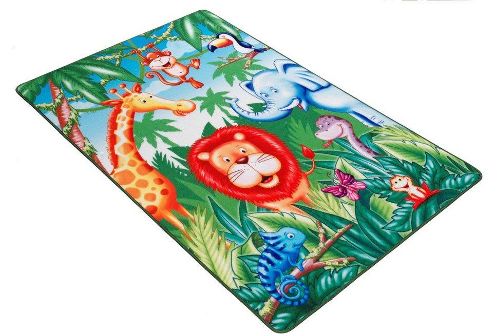 Fußmatte, Böing Carpet, »Lovely Kids LK-6«, rutschhemmend beschichtet in grün