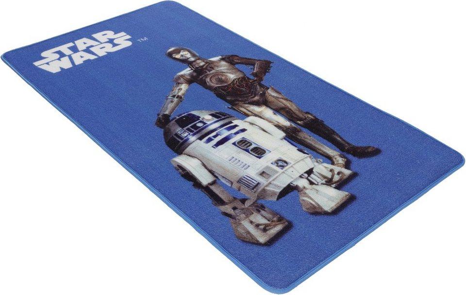 Kinder-Teppich, Star Wars, »SW-26, Droiden« in hellblau