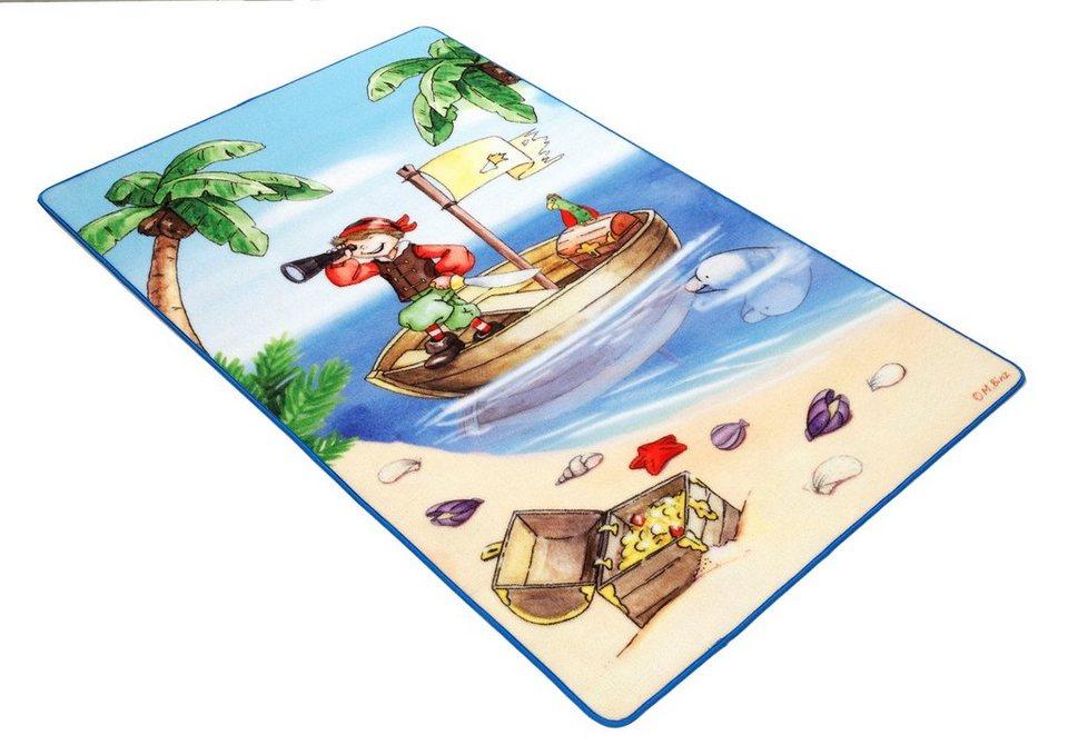 Kinderteppich, Böing Carpet, »Lovely Kids LK-1«, rutschhemmend beschichtet in blau