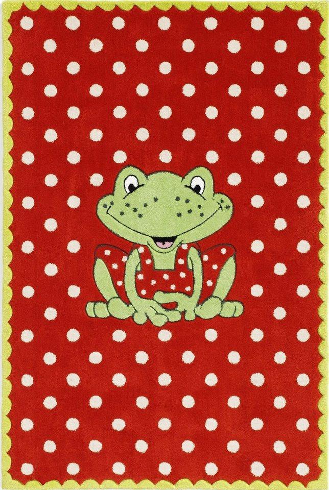 Kinder-Teppich, Spiegelburg, »GA-1372«, handgetuftet, Konturenschnitt in rot