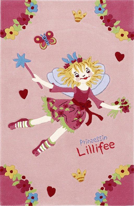 Kinder-Teppich, Prinzessin Lillifee, »LI-2936-01«, handgetuftet, Konturenschnitt in rosa