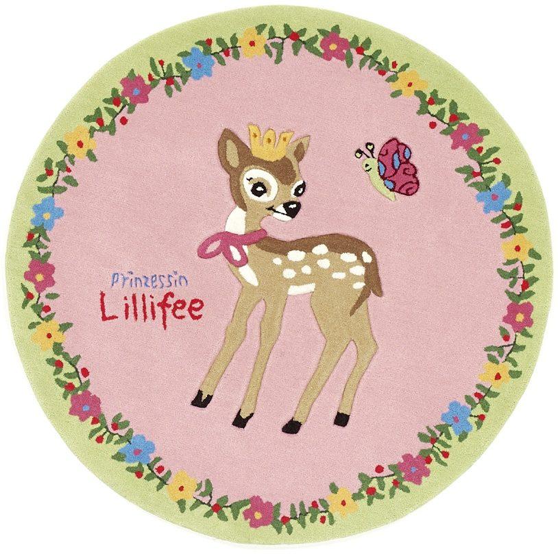 Teppich »LI-2935-01«, Prinzessin Lillifee, rund, Höhe 10 mm, Konturenschnitt, brillante Farben, Rund