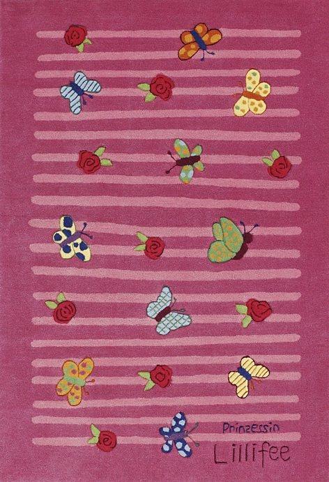 Teppich, Prinzessin Lillifee, »LI-2099-01«, handgetuftet, Konturenschnitt, Brilliante Farben in rosa
